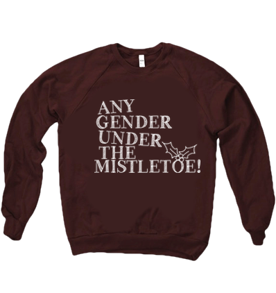 ANY GENDER MISTLETOE SWEATER - BOBO ACADEMY - christmas - LGBTQ - PRIDE - APPAREL - 1