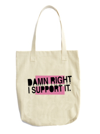 SUPPORT IT TOTE - BOBO ACADEMY - tote bag - LGBTQ - PRIDE - APPAREL
