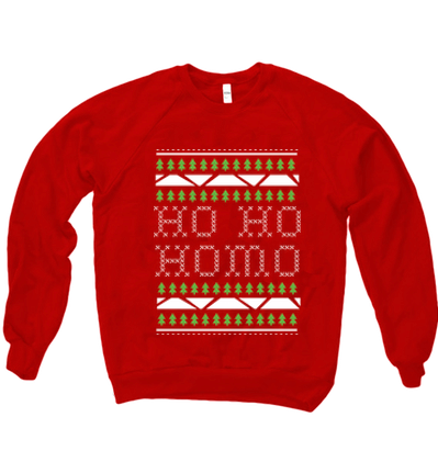 HO HO HOMO TREES SWEATER - BOBO ACADEMY - christmas - LGBTQ - PRIDE - APPAREL - 1