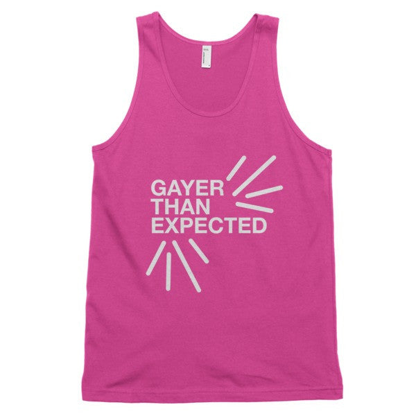Gayer Than Expected Tank - BOBO ACADEMY -  - LGBTQ - PRIDE - APPAREL - 7