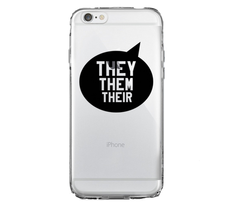 They Them Their iPhone Case - BOBO ACADEMY - iPhone - LGBTQ - PRIDE - APPAREL