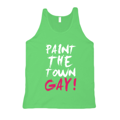 PAINT THE TOWN GAY! TANK - BOBO ACADEMY - tank - LGBTQ - PRIDE - APPAREL - 1