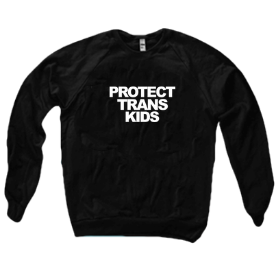 PROTECT TRANS KIDS SWEATER - BOBO ACADEMY - sweater - LGBTQ - PRIDE - APPAREL