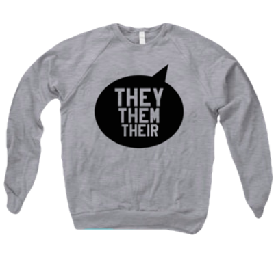 THEY THEM THEIR SWEATER - BOBO ACADEMY - sweater - LGBTQ - PRIDE - APPAREL - 1