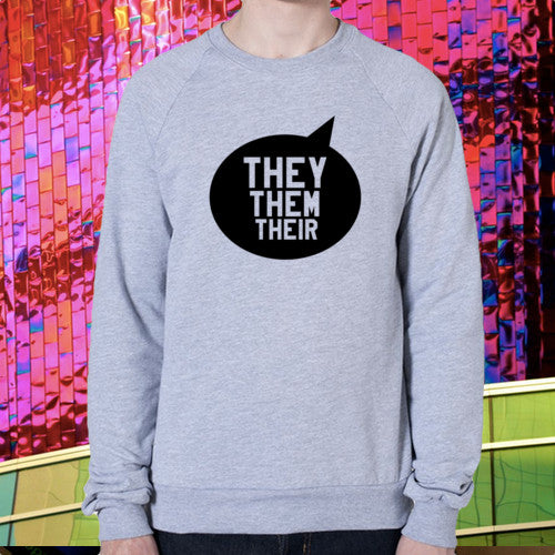 THEY THEM THEIR SWEATER - BOBO ACADEMY - sweater - LGBTQ - PRIDE - APPAREL - 2