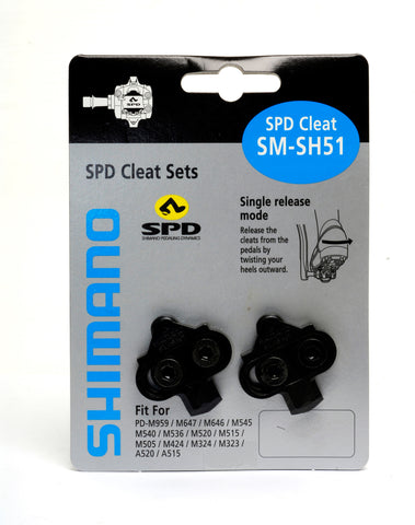 Shimano SH51 MTB SPD cleats single release