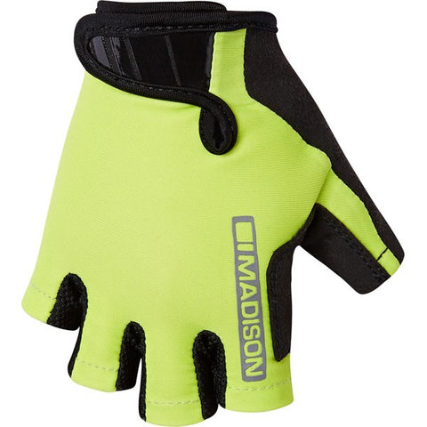 Madison Tracker Kids Cycling Mitts - yellow