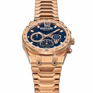 Classic Gold Steel - HUSTLERS Co Watches Quartz Movement, Sapphire Crystal, 10ATM water resistance, 3 year international warranty, Sporty, Chronograph and Lifestyle Affordable Timepieces and