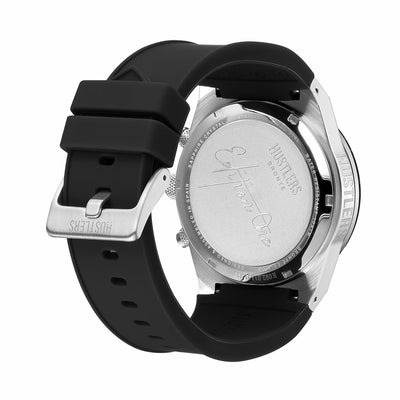 Dark One Rubber - HUSTLERS Co Watches Quartz Movement, Sapphire Crystal, 10ATM water resistance, 3 year international warranty, Sporty, Chronograph and Lifestyle Affordable Timepieces and
