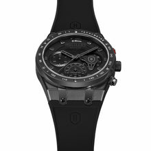 Load image into Gallery viewer, Triple Black Rubber - HUSTLERS Co Watches Quartz Movement, Sapphire Crystal, 10ATM water resistance, 3 year international warranty, Sporty, Chronograph and Lifestyle Affordable Timepieces and