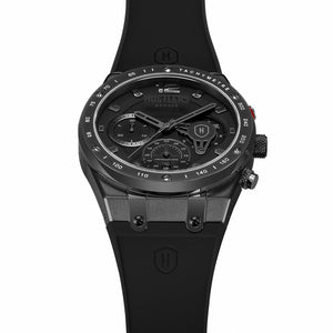 Triple Black Rubber - HUSTLERS Co Watches Quartz Movement, Sapphire Crystal, 10ATM water resistance, 3 year international warranty, Sporty, Chronograph and Lifestyle Affordable Timepieces and