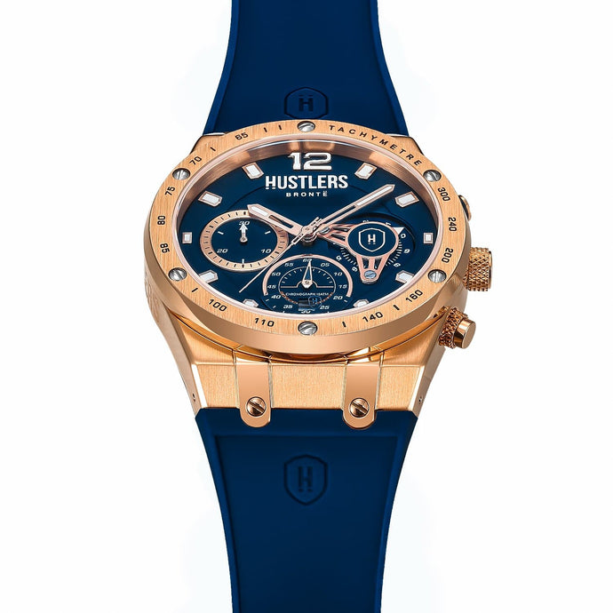 Classic Gold Rubber - HUSTLERS Co Watches Quartz Movement, Sapphire Crystal, 10ATM water resistance, 3 year international warranty, Sporty, Chronograph and Lifestyle Affordable Timepieces and