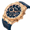 Classic Gold Leather - HUSTLERS Co Watches Quartz Movement, Sapphire Crystal, 10ATM water resistance, 3 year international warranty, Sporty, Chronograph and Lifestyle Affordable Timepieces and