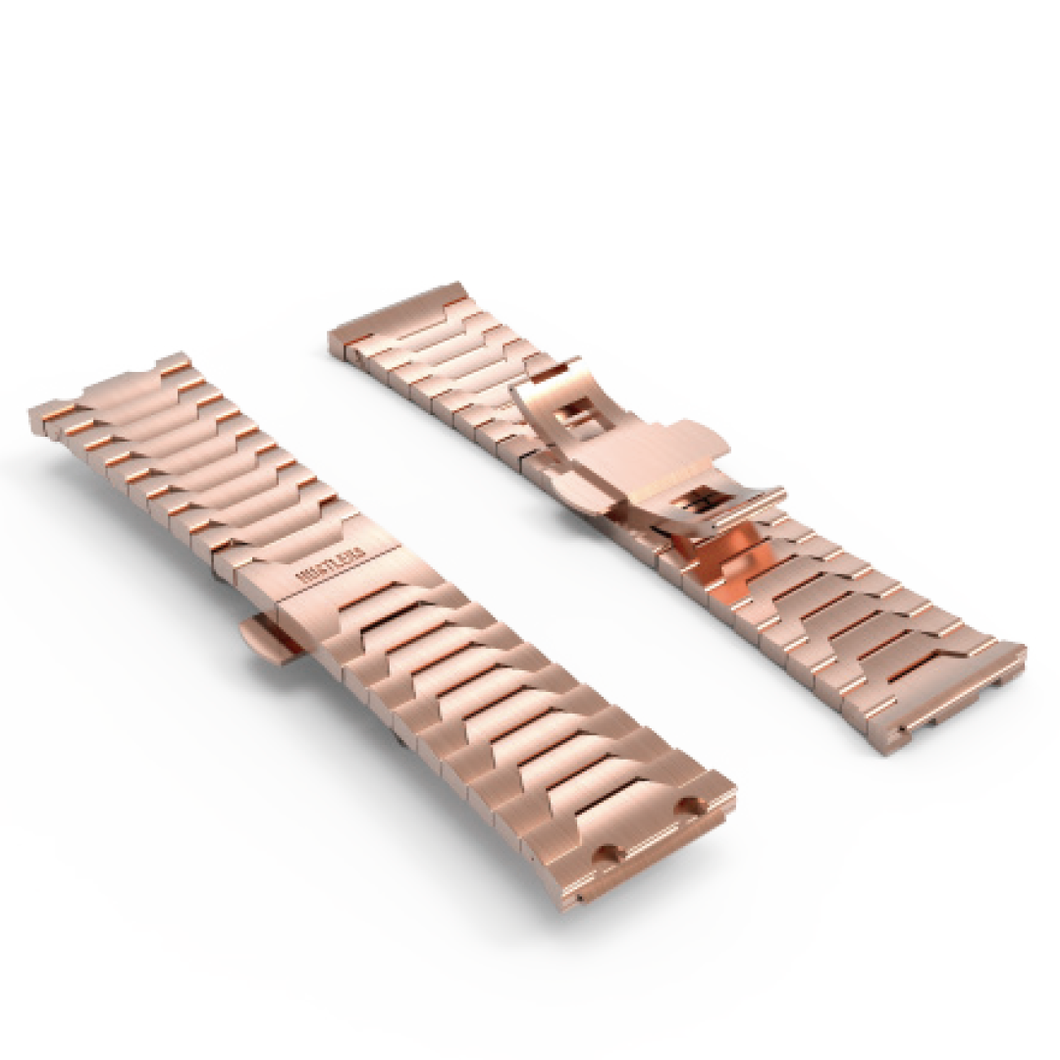 Rose Gold PVD bracelet - HUSTLERS Co Watches Quartz Movement, Sapphire Crystal, 10ATM water resistance, 3 year international warranty, Sporty, Chronograph and Lifestyle Affordable Timepieces and