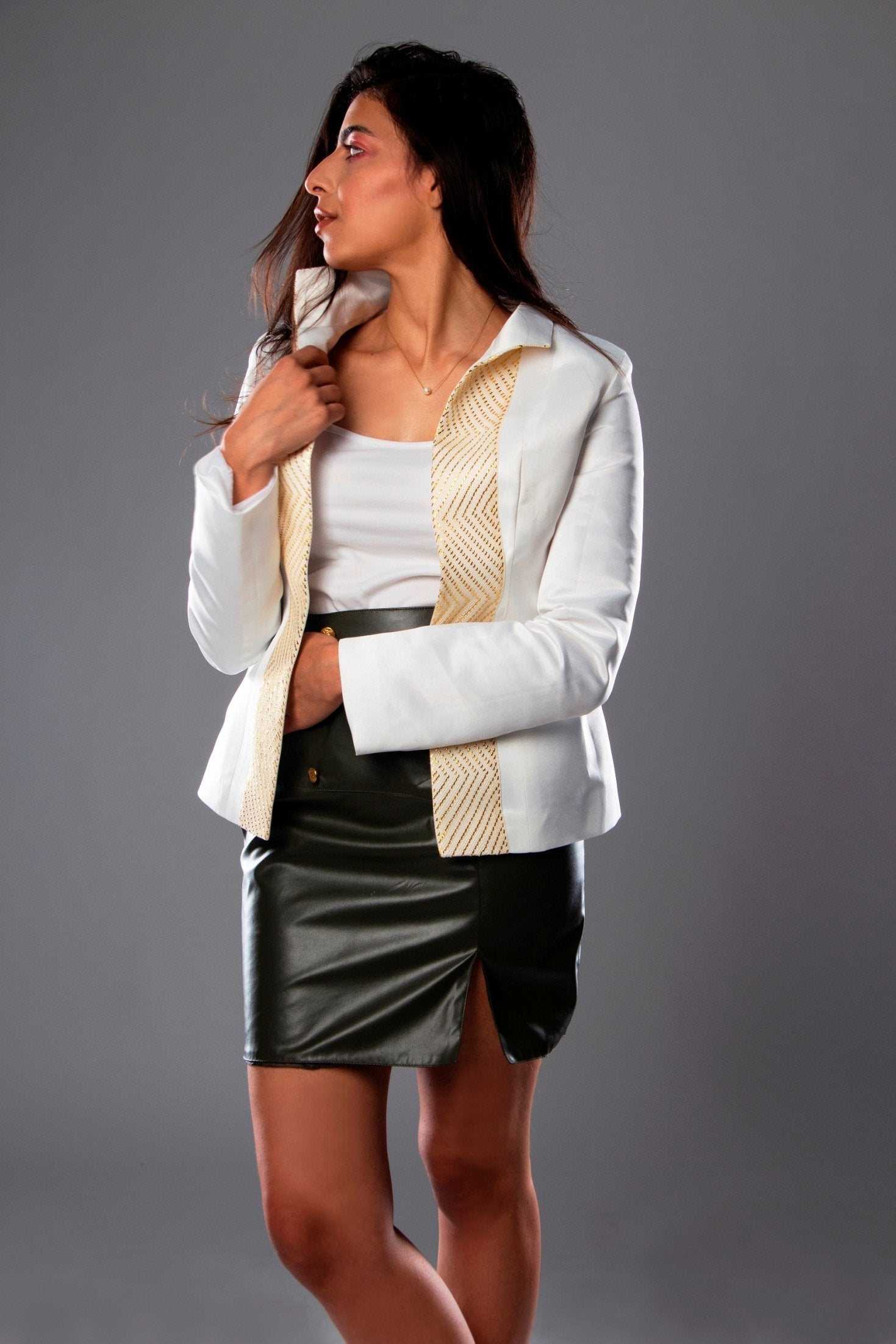 Fitted Slim Satin Jacket