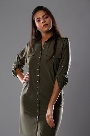 Long army chemise