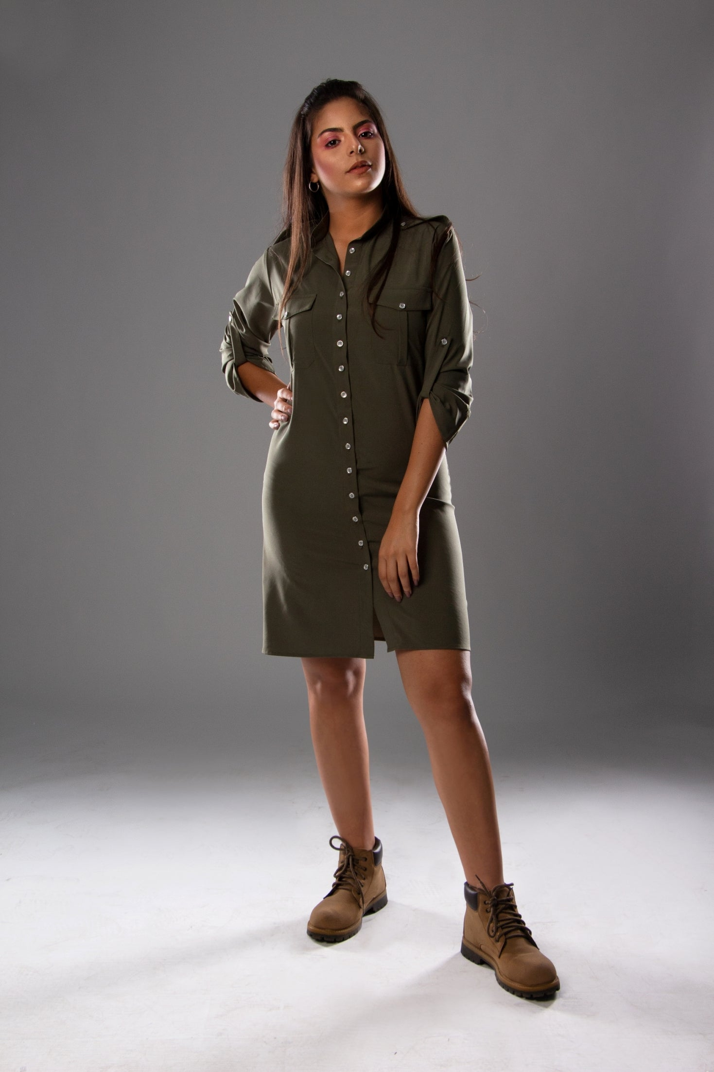 army green chemise