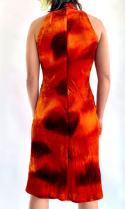 Bias Cut Tie Dye Velvet Dress