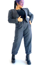 Load image into Gallery viewer, Plaid Linen Suit Set