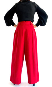 Cranberry High Rise Wide Leg Trouser