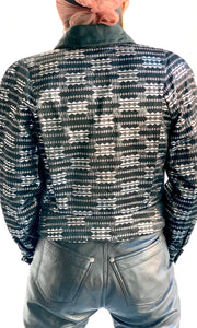 1970's Courréges Metallic Cropped Blazer