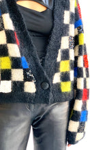 Load image into Gallery viewer, Checkered Mohair Cardigan