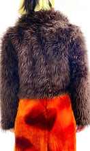 Load image into Gallery viewer, Faux Buffalo Fur Cropped Jacket