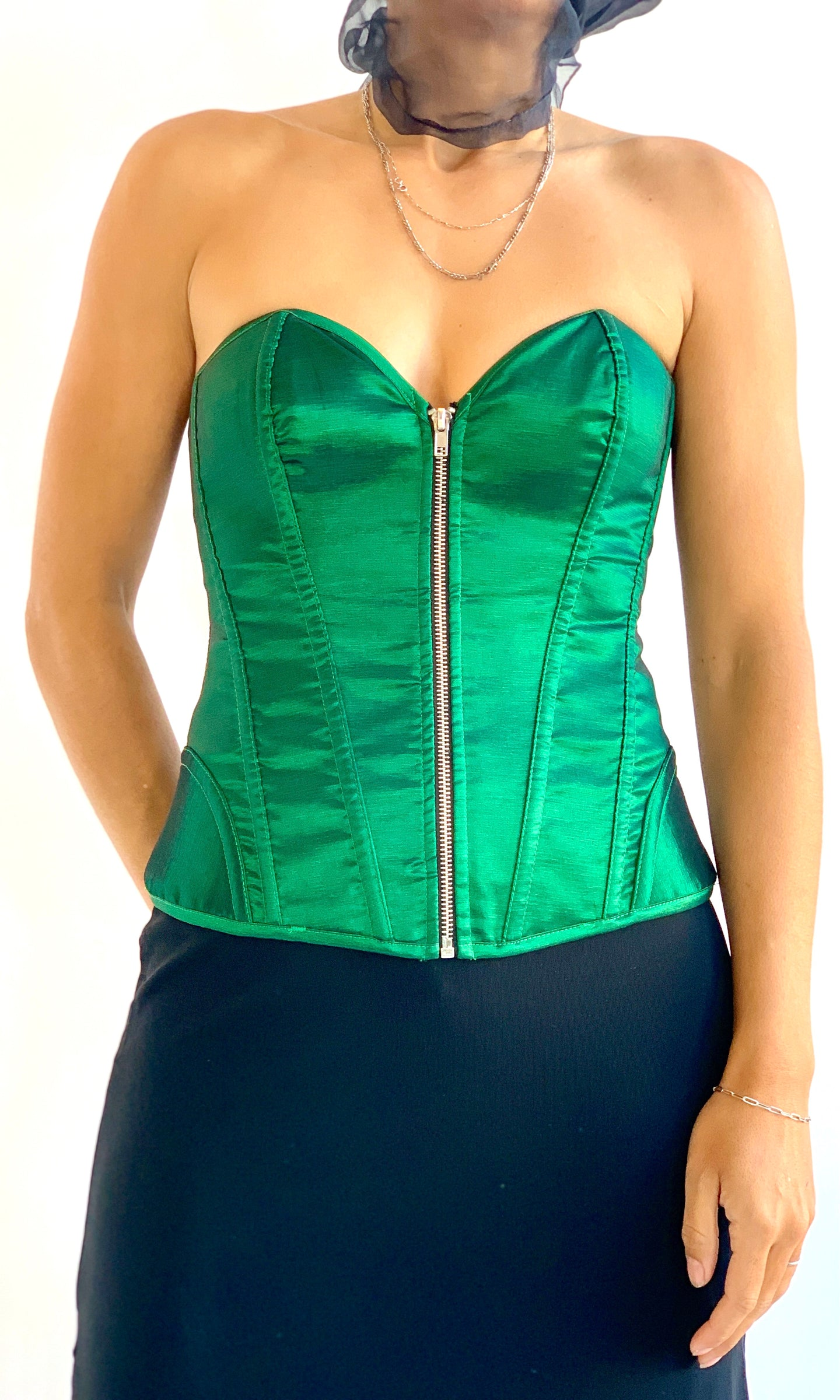 Green Corset Top