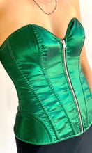 Load image into Gallery viewer, Green Corset Top