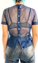 Load image into Gallery viewer, 1950s Sheer Smocked Blouse