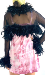 Feather and Mesh Shrug