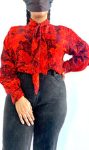 Load image into Gallery viewer, Vintage St. John Tie Neck Blouse