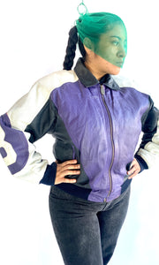 Purple 8 Ball Leather Jacket