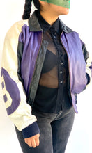 Load image into Gallery viewer, Purple 8 Ball Leather Jacket