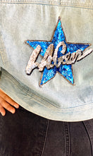 Load image into Gallery viewer, L.A. Gear Sequins Star Denim Jacket