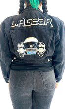Load image into Gallery viewer, L.A. Gear Sequins Car Black Denim Jacket