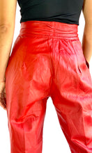 Load image into Gallery viewer, 80s Red Leather Pants