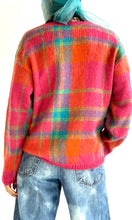 Load image into Gallery viewer, Fuzzy Plaid Sweater