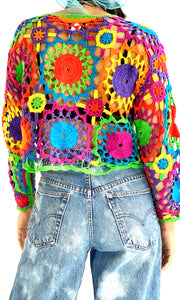 Rainbow Crochet Sweater