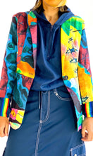 Load image into Gallery viewer, Surrealist Watercolor Linen Blazer