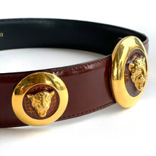Load image into Gallery viewer, Escada Jaguar Head Genuine Patent Belt