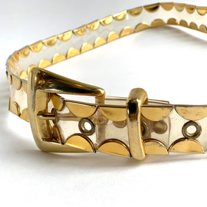 Gold Trim Transparent Plastic Belt