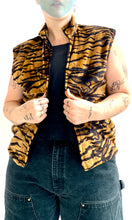 Load image into Gallery viewer, Plush Tiger Zip Up Vest