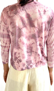 Custom Tie Dyed Silk Turleneck