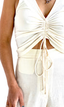 Load image into Gallery viewer, 00s Cream Ruched Tank Top