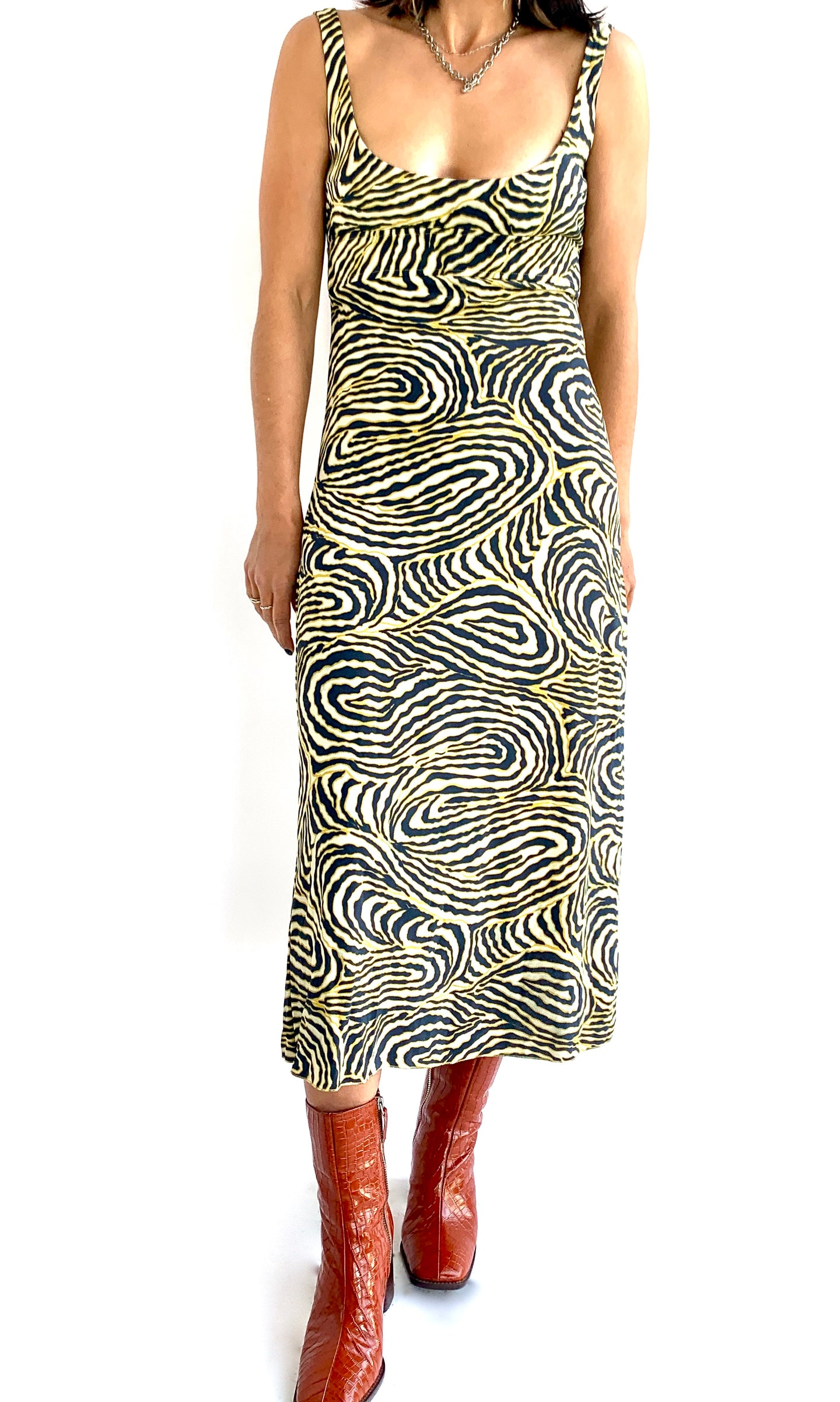 Anna Molinari Fingerprint Dress