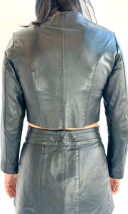 Vintage Chopped Unlined Leather Jacket