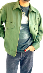 Army Green Gabardine Jacket