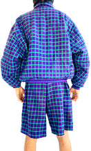 Load image into Gallery viewer, Plaid Purple Flannel Set