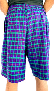 Plaid Purple Flannel Set